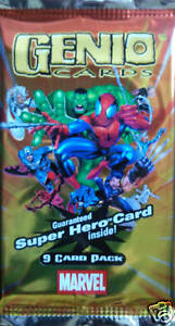 MARVEL-Super-Hero-Genio-Trading-card-Booster-Pack