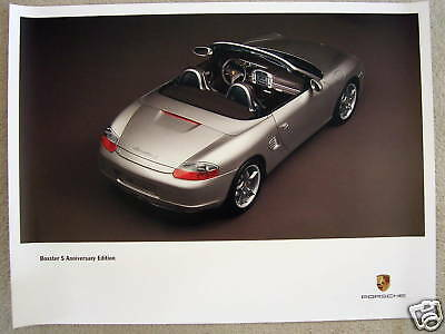 PORSCHE OFFICIAL 986 BOXSTER S 50th ANNIVERSARY LTD EDITION SHOWROOM POSTER 2004