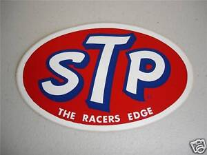 VINTAGE STP NASCAR RACING STICKER RICHARD PETTY DECAL TOOLBOX 1960's MINT NOS