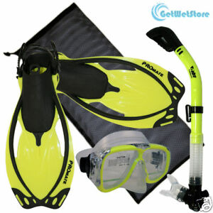 Snorkeling-Scuba-Dive-Mask-Dry-Snorkel-Fin-Bag-Gear-Set