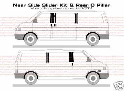 VW T4 Transporter B & C Pillar Decal Sticker