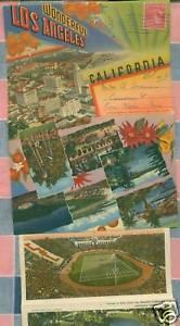 Old-Postcard-Folder-Wonderful-Los-Angeles-California