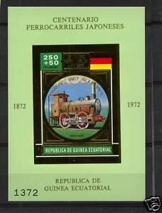 Equatorial-Guinea-1972-Japanese-Railway-GOLD-MNH-S-S-2