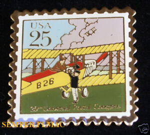 20TH-US-POSTAL-CONGRESS-MAIL-STAMP-BI-PLANE-HAT-PIN