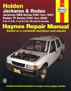 NEW HAYNES REPAIR MANUAL: HOLDEN JACKAROO UBS RODEO TF