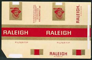 Chile Cigarette Box Label Raleigh new
