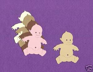 BABY  die cuts scrapbook cards