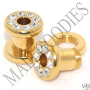 0389-Screw-on-Gold-CZ-Tunnels-4-Gauge-4G-Ear-Plugs-5mm