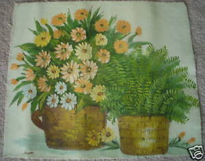 VINTAGE-ORIGINAL-OIL-PAINTING-CANVAS-FLORAL-STILL-LIFE