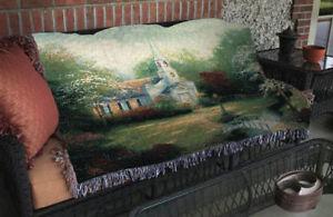 Hometown Chapel Church Tapestry Afghan Throw Artist