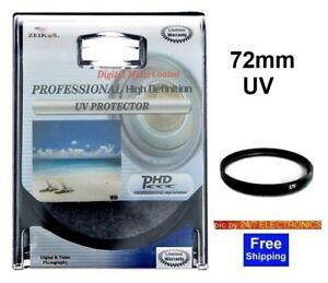 UV-FILTER-72-72mm-4-SONY-HDR-FX1-HVR-Z1U-DSC-H7-H9-H50
