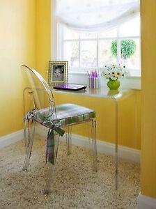 Acrylic console table desk lucite waterfall sofa ebay for Consolle plexiglass design
