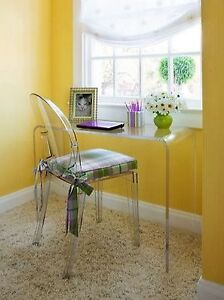 acrylic console table desk lucite waterfall