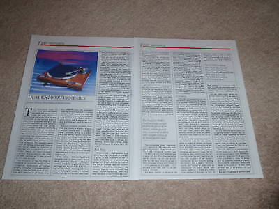 Dual CS 5000 Turntable Review,2 pgs, 1986, Full Test