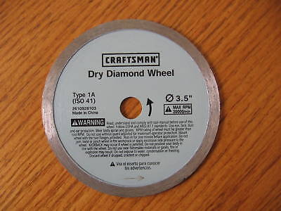 Craftsman Dry Diamond Wheel Blade Type 1a 3.5 Cm-dia1 3-1/2
