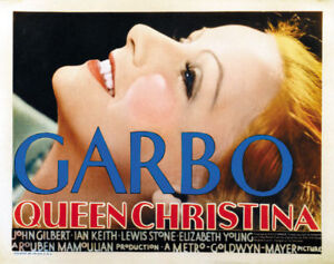 Queen Christina Greta Garbo vintage movie poster print