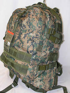 Tactical-Backpack-Digital-Woodland-Military-Marpat-3-Day-Assault-Molle-Large-NEW