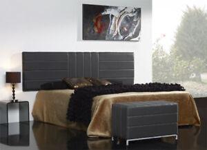 Cabecero dormitorio para cama con canape tapizado 21r92zit - Cabeceros metalicos para camas ...