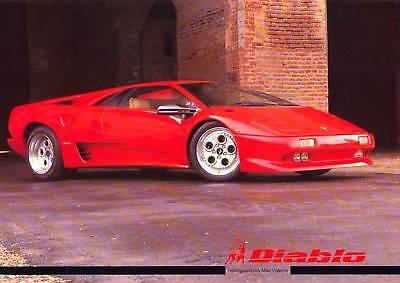 Lamborghini Diablo & VT UK market sales brochure / leadlet