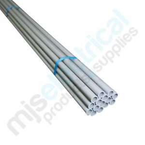 25mm-Rigid-Electrical-Conduit-Grey-MD-4mtr-Length-NEW-Electrician-Supplies