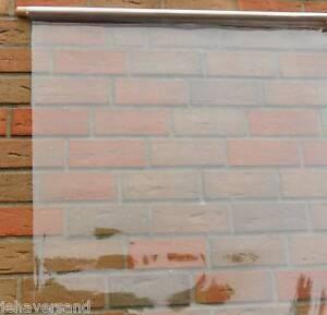 14,00 €/m²   Kunststofffolie Plastikfolie transparent Wetterschutzfolie 0,75 mm