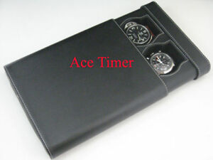 2-Watch-Black-Traveling-Storage-Case-Fits-up-to-60mm