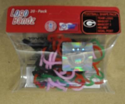 Logo Bandz Georgia Bulldogs Rubber Bands Bracelets