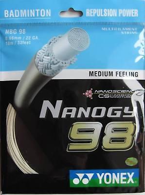 Genuine Yonex NBG98 Nanogy 98 Badminton String - 10m - Cosmic Gold - Free UK P&P