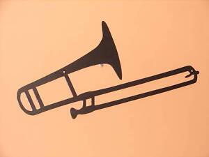 Music Metal Wall Art trombone metal wall art music musical decor instrument | ebay