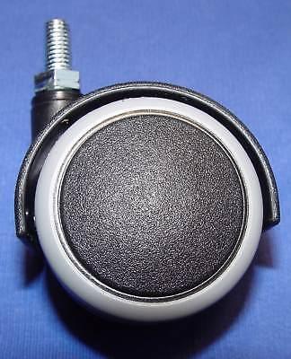 Möbelrolle 50mm Hartbodenrollen Möbelrad Rollfuß Gummi Gewinde M8 x15 mm