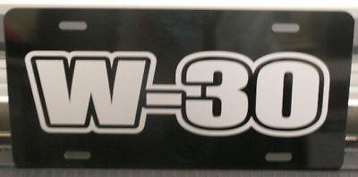 W-30 Engine Sze License Plate Hurst Oldsmobile 442 S Cutlass 350 400 455 Ram Air