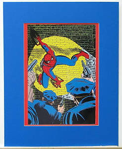 AMAZING SPIDER MAN PIN UP POSTER MARVEL 1978 MATTED