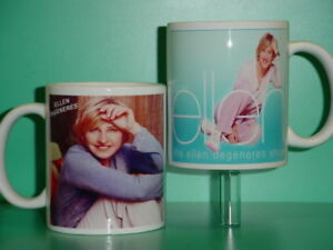 ELLEN DEGENERES - with 2 Photos - Designer Collectible GIFT Mug