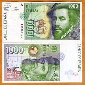 Spain-1000-1-000-1992-P-163-UNC-Pre-Euro