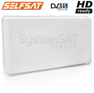 SELFSAT-SATELLITE-DISH-H30D4-FLAT-ANTENNA-amp-QUAD-LNB