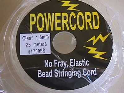 1.5mm Clear Powercord Best Beading Elastic Cord 75ft
