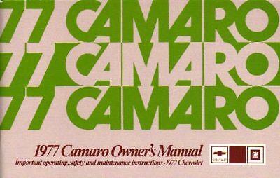 1977 Camaro Owner's Manual