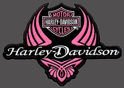 Harley Davidson Ladies Wing Patch 4 Inch