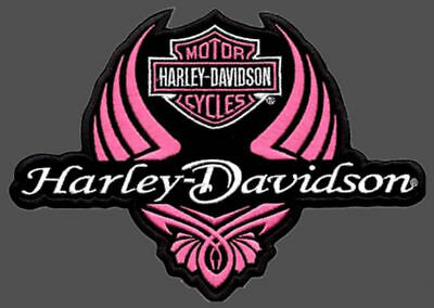 Harley Davidson Ladies Wing Patch 4 Inch