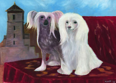 CHINESE CRESTED TOY DOG FINE ART LIMITED EDITION PRINT
