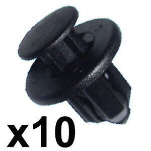 10x-12mm-Hole-Bumper-Trim-Clips-Honda-Nissan-Mazda-etc