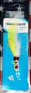 white saltwater bomber 3//8 oz flair hair jig chart