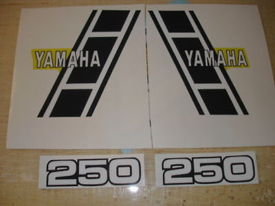 1983 Yamaha Yz250 Gas Tank And Side Panel Decals Ahrma