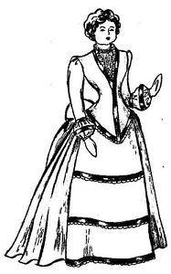 Vintage-1870-20-China-Head-Doll-Bustle-Gown-Pattern