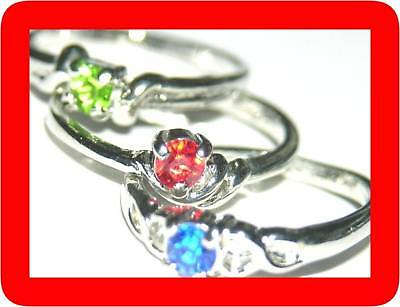 100 simulated diamond RINGS RING WHOLESALE GIRL LOT c w/Case CLOSE SALE
