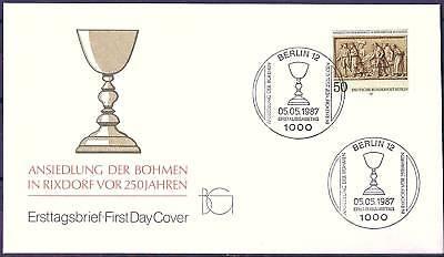 Berlin 1987: Ansiedlung der Böhmen in Rixdorf vor 250 Jahren FDC Nr 784! 1A 1710