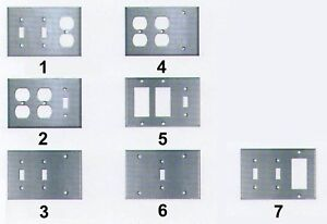 3 Switch Plate Pleasing 3 Gang Combo Switch Duplex Decora Gfci Plug Outlet Stainless Steel Decorating Design