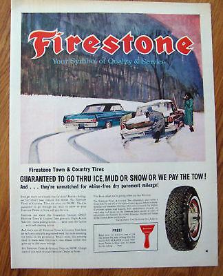 1963 Firestone Tires Ad   Pontiac Oldsmobile