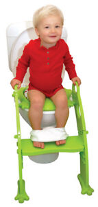 Potty Training - Step Potty with Cushioned Seat (Green)