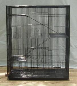 4-Levels-Ferret-Chinchilla-Sugar-Glider-Cage-Black